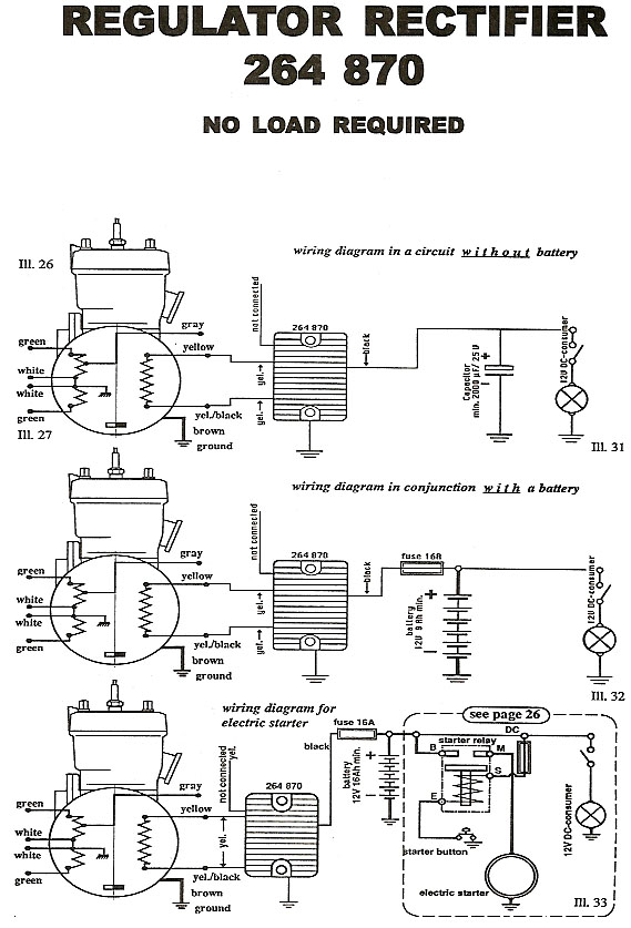 Rectifier Wiring Diagram For 264 780 Regulator