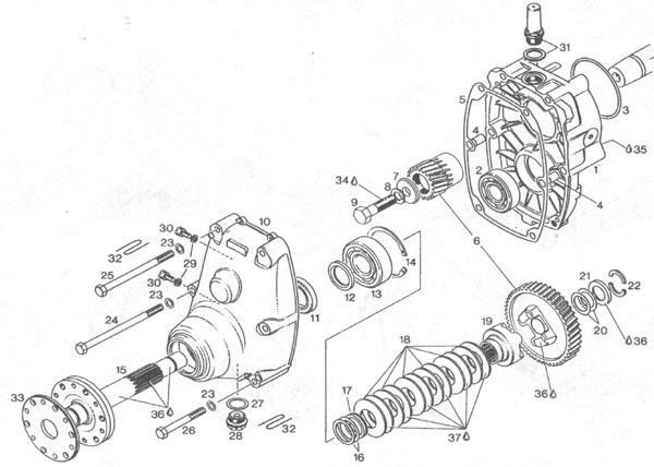 Rotax gear box, Rotax B gear drive, Rotax B gear box