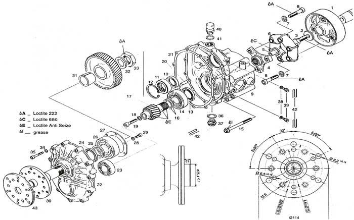 Rotax C drive, Rotax C gear box drive, Rotax C gear box
