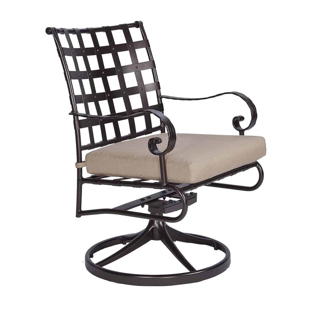 swivel rocker outdoor dining chairs vintage wrought iron classico chair ultra modern pool