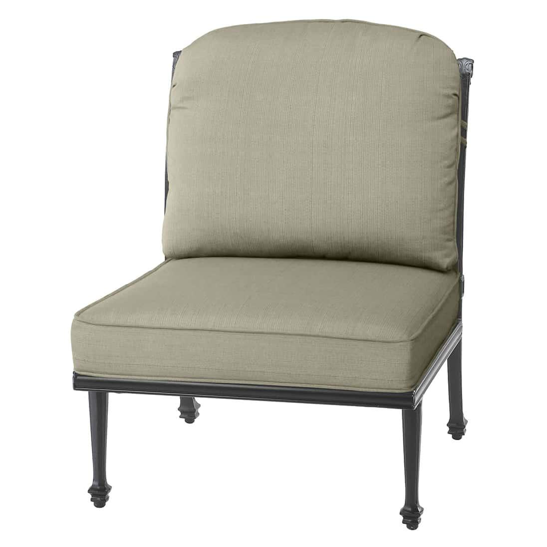 Grand Terrace Modular Armless Lounge Chair  Ultra Modern
