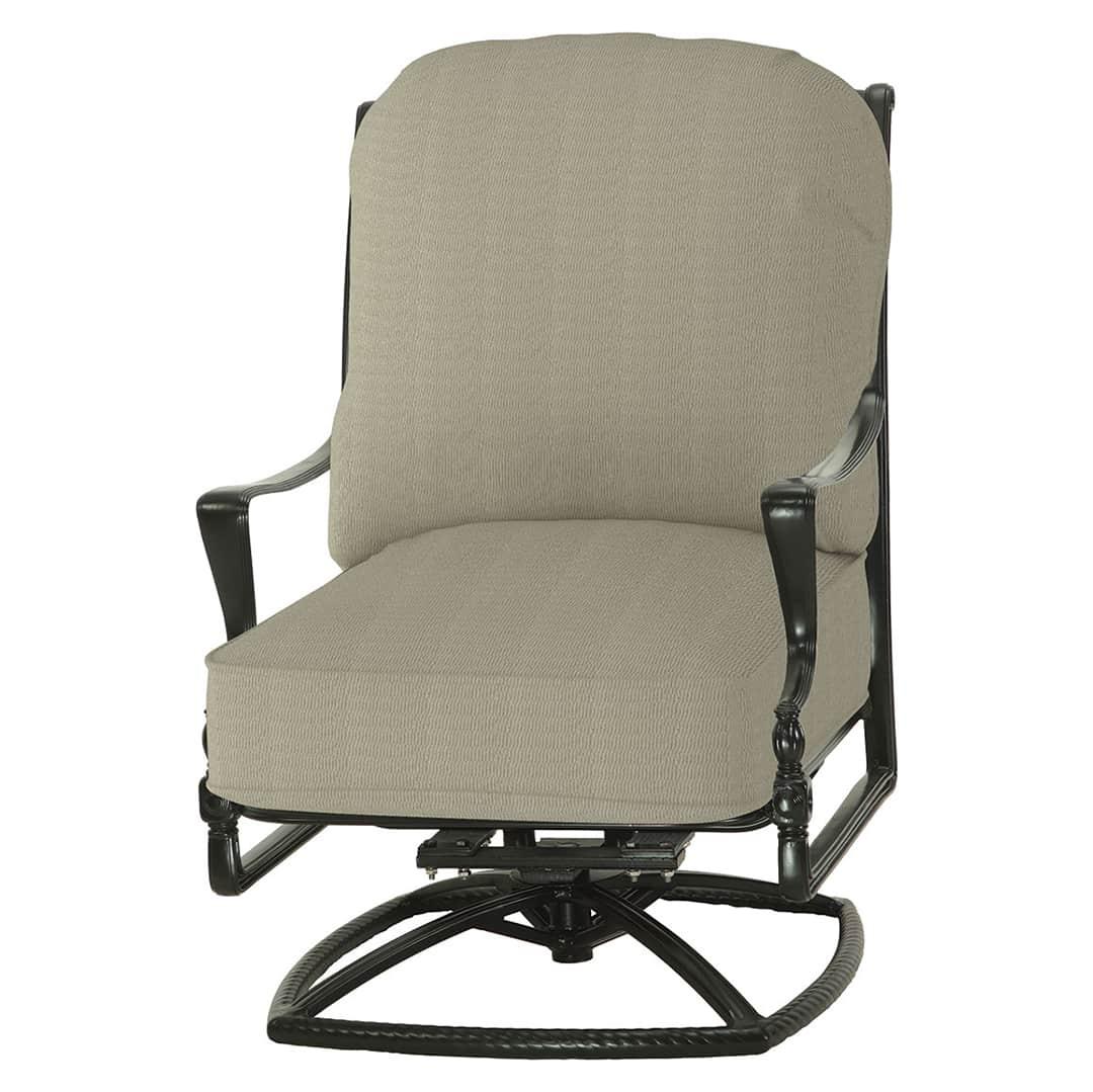 Bel Air Cushion High Back Swivel Rocker Lounge Chair