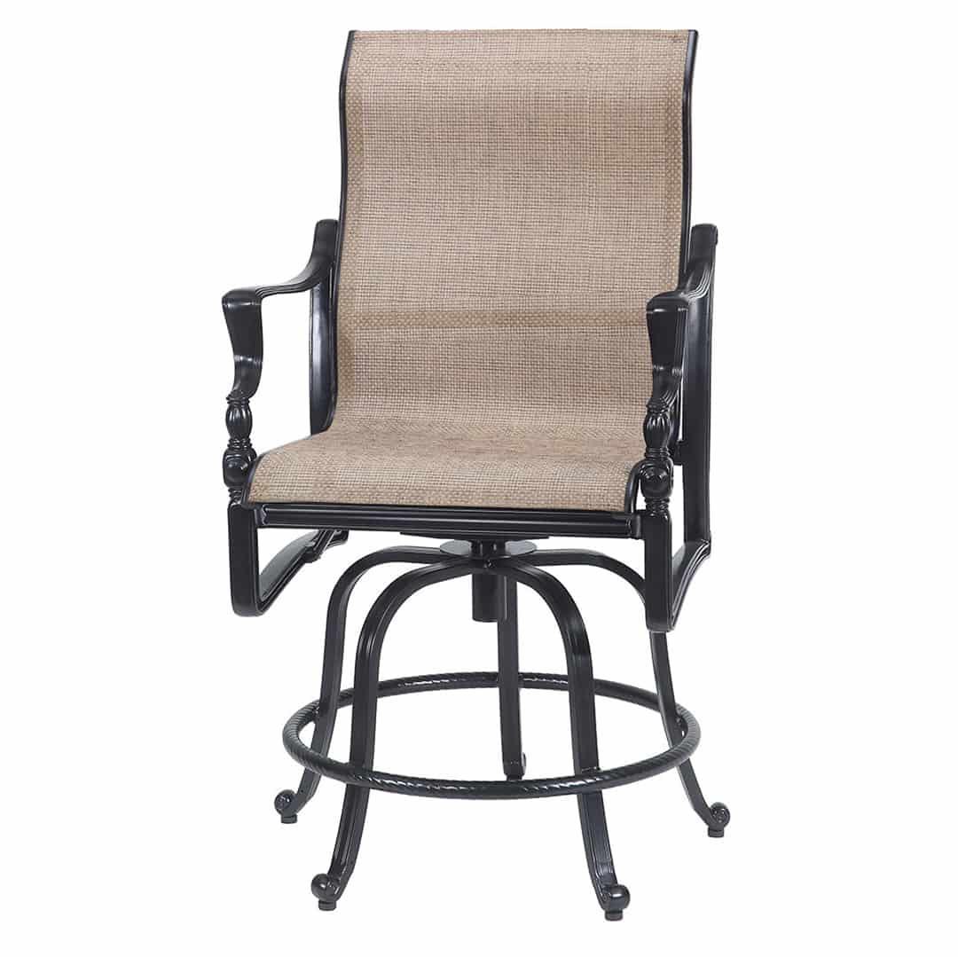 swivel chaise lounge chair ergonomic kuala lumpur bel air sling ultra modern pool and patio