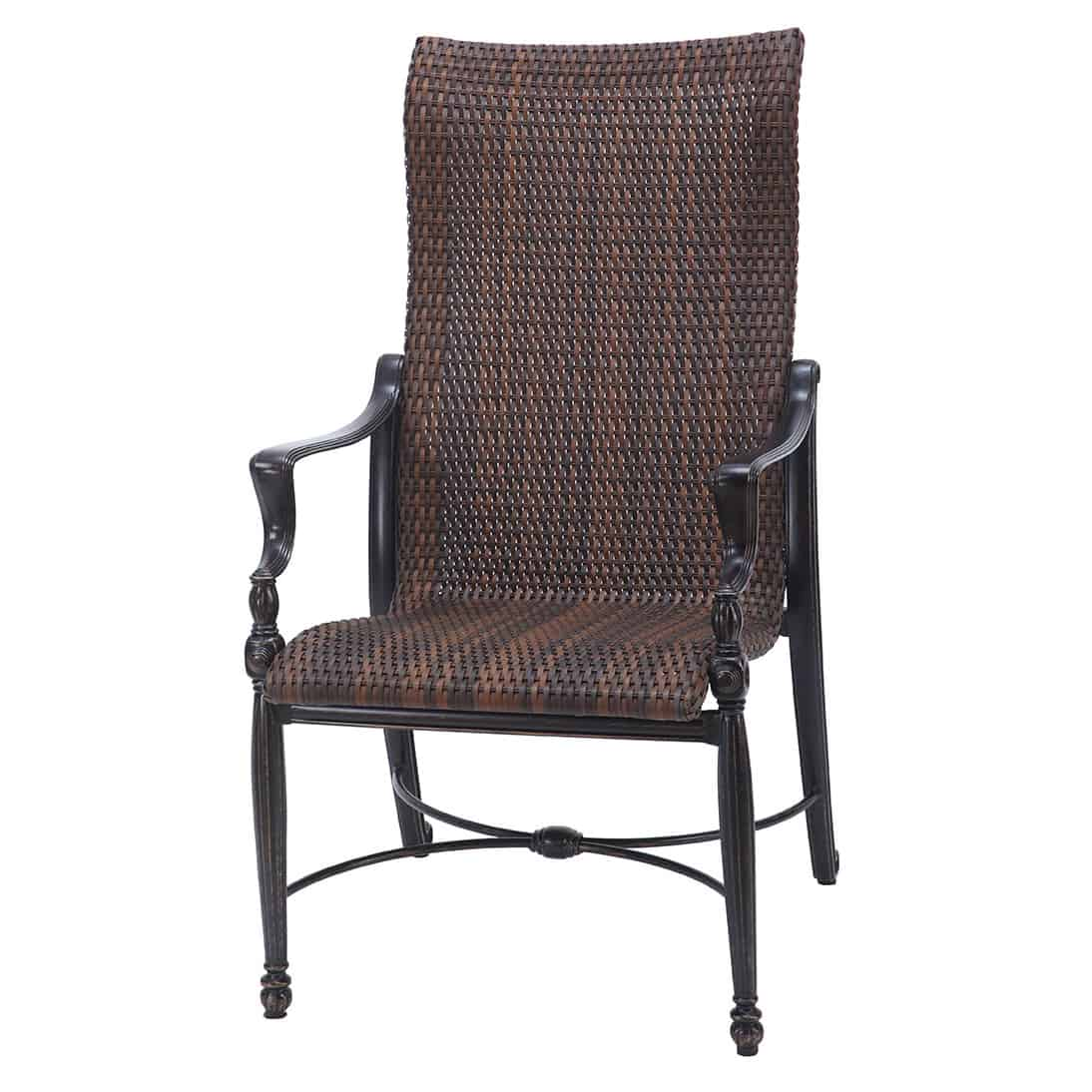 metal patio chair sure fit covers walmart bel air woven high back dining - ultra modern pool &