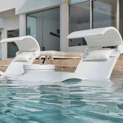 What Are Pool Chairs Made Out Of Racer X Chair Ledge Lounger Ice Bin Side Table Ultra Modern And Patio