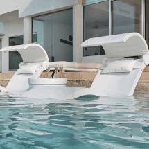 Ledge Lounger Ice Bin Side Table - Ultra Modern Pool & Patio