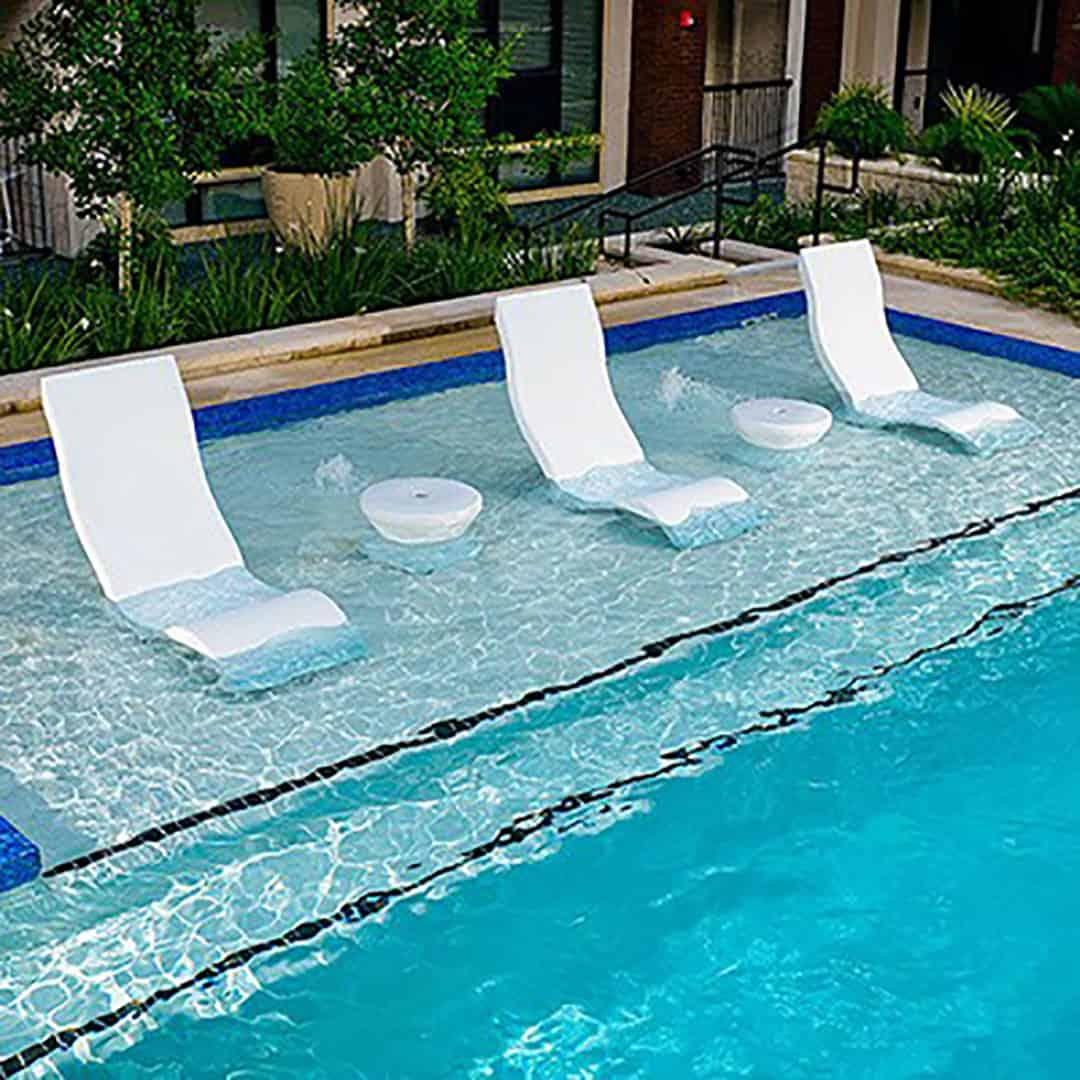 Ledge Lounger Side Table  Ultra Modern Pool  Patio