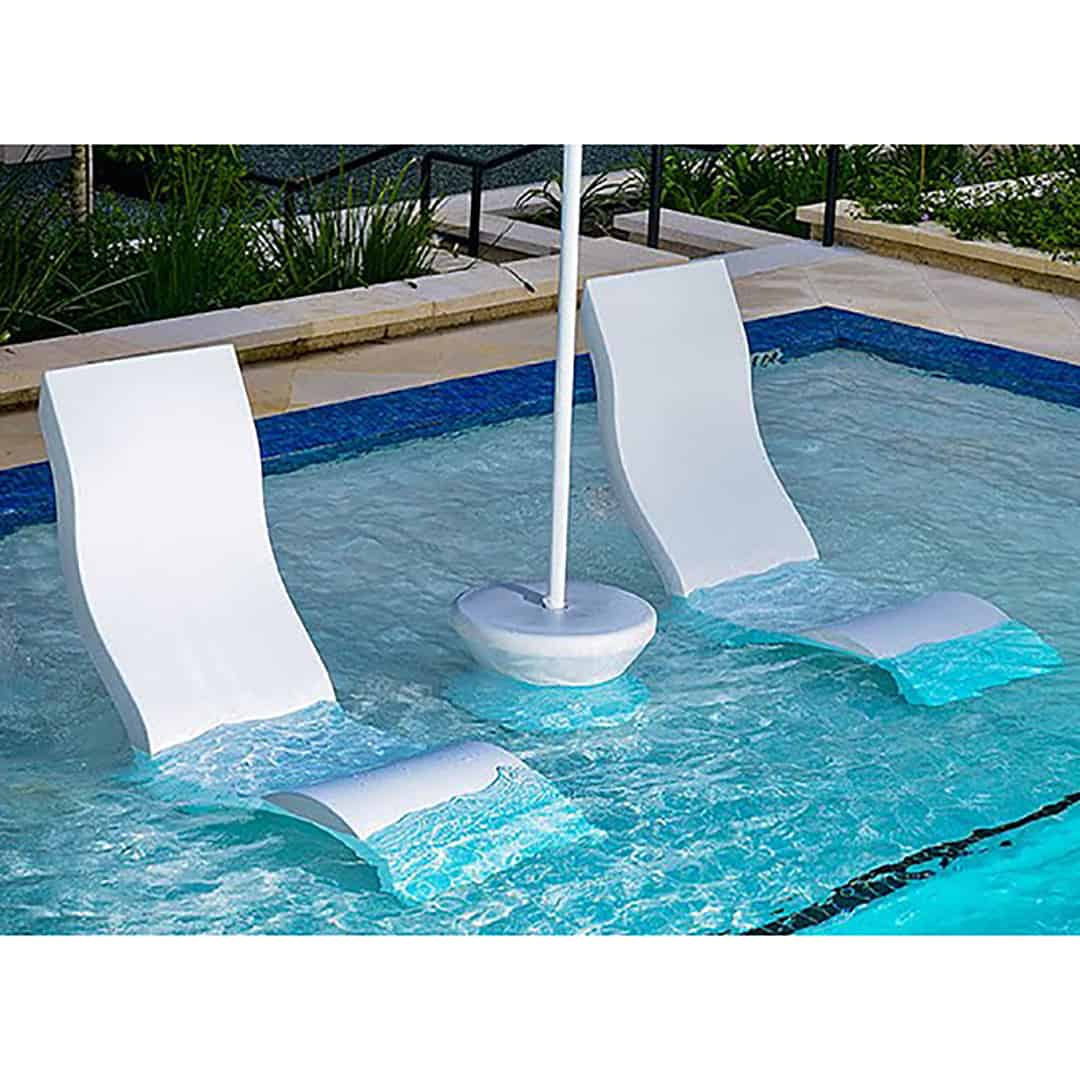 in water pool chairs how to cane a chair seat ledge lounger side table ultra modern and patio