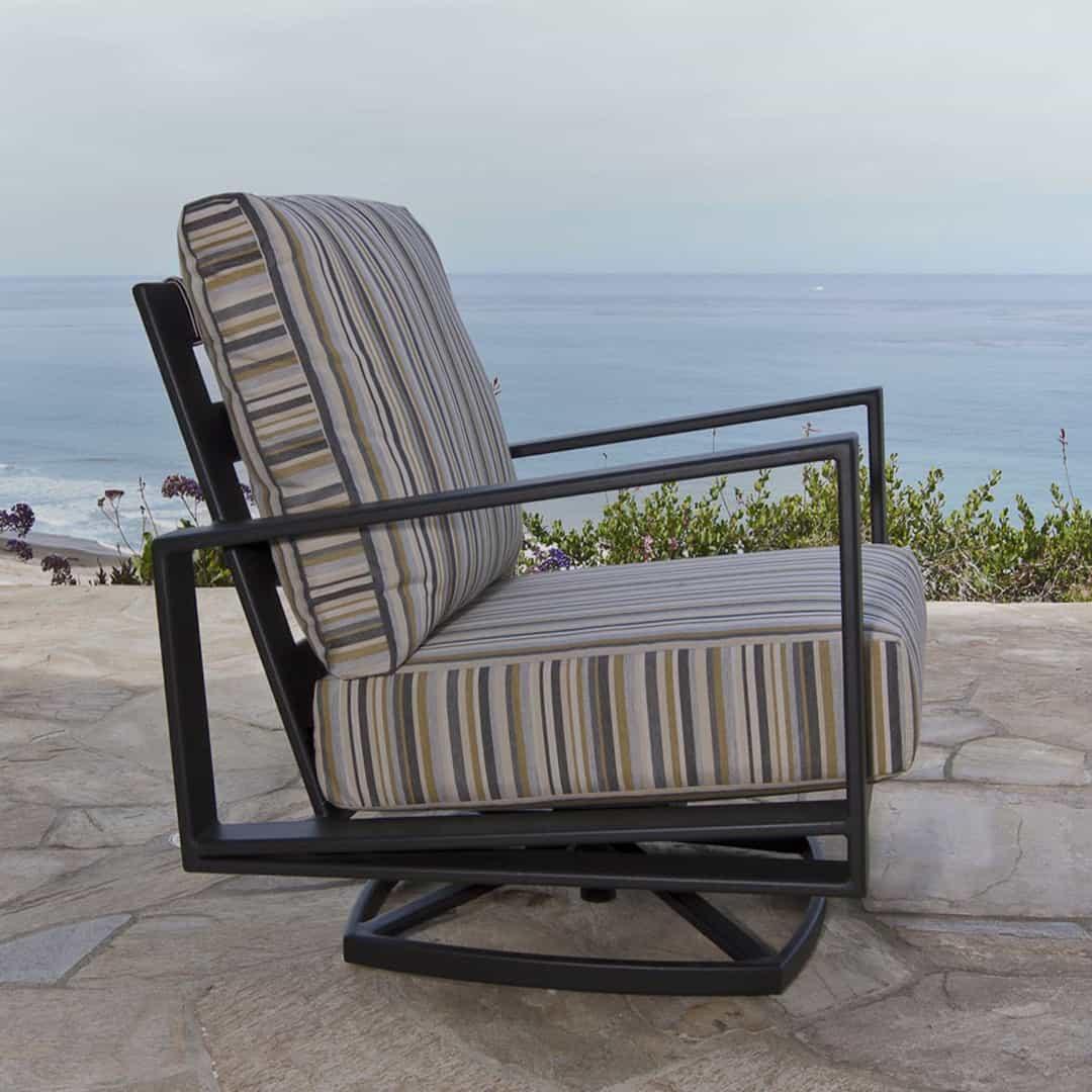 swivel chaise lounge chair dining room covers amazon gios rocker - ultra modern pool & patio