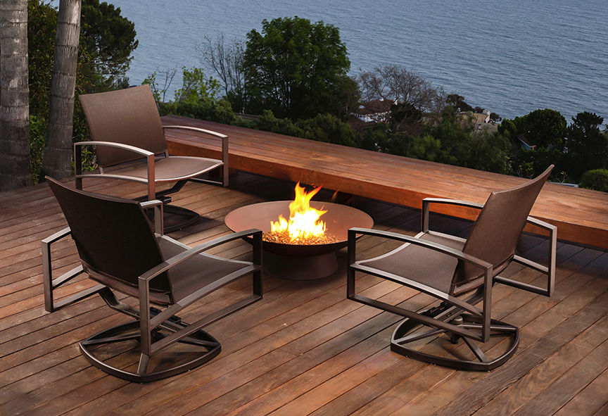 patio furniture ready for winter