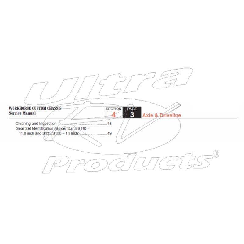 2007-2008 Workhorse R26 UFO Axle & Driveline Service