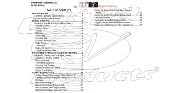 2007-2008 Workhorse R26 UFO Engine Cooling Service Manual