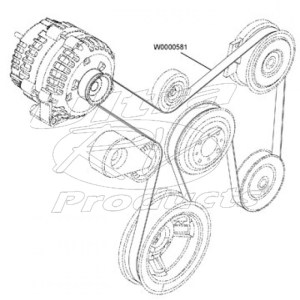 W0000581  Workhorse Wseries Chassis 81l Drive Belt  Workhorse Parts