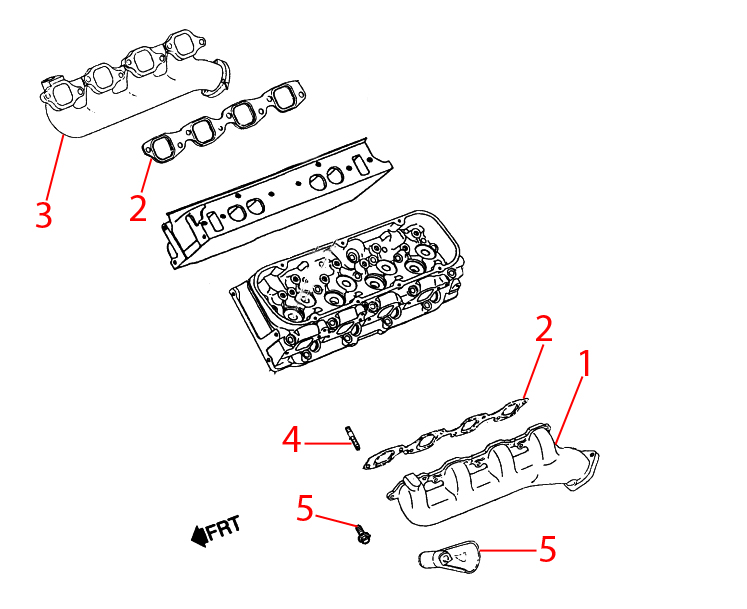 1996-2000 P32 Chassis Parts Index > EXHAUST MANIFOLD