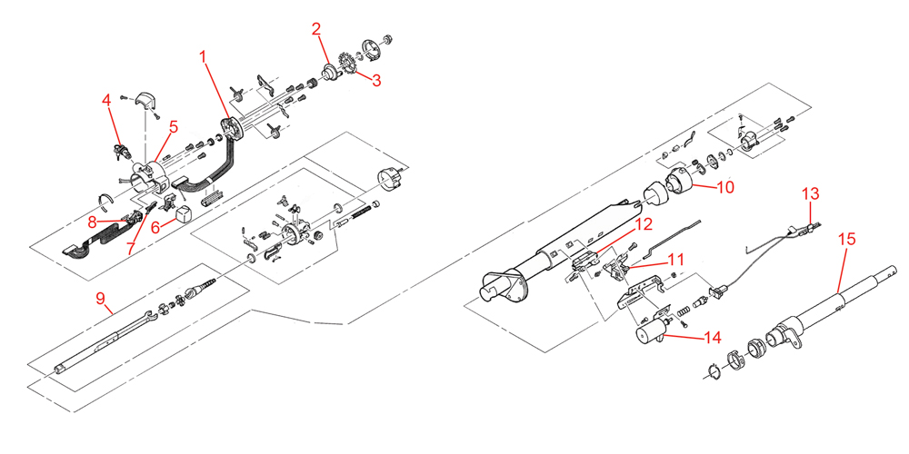 1996-2000 P32 Chassis Parts Index > STEERING COLUMN