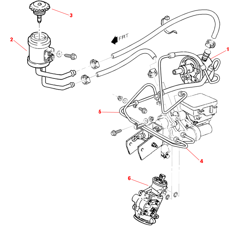 1996-2000 P32 Chassis Parts Index > POWER STEERING