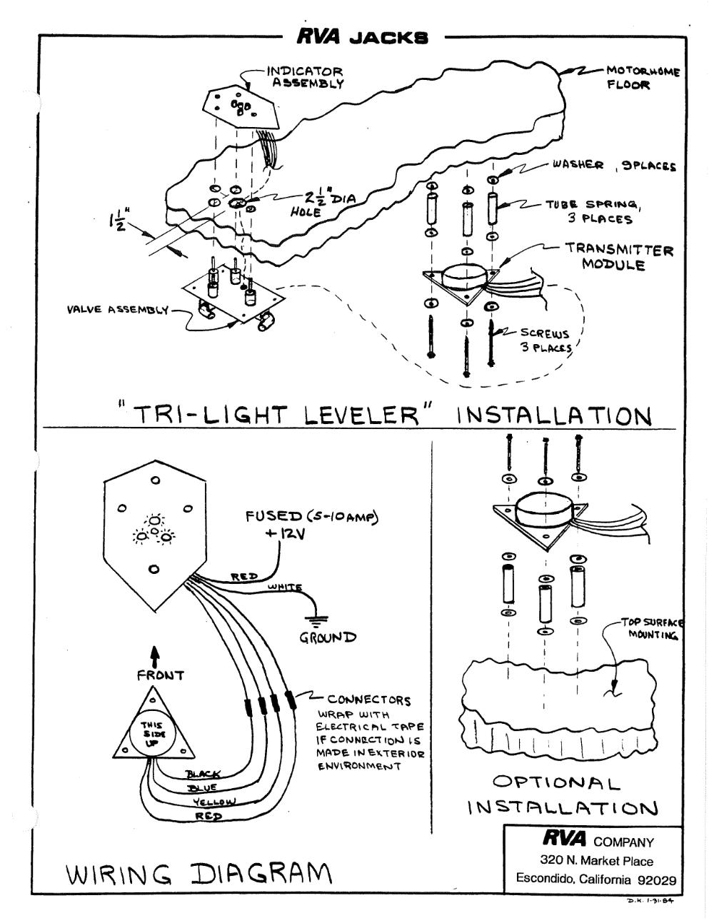 RVA Original Manual Jack System Documentation