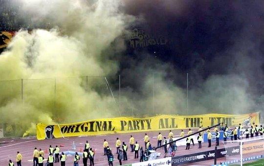RIOTS AEK Athens  Olympiakos 11032015