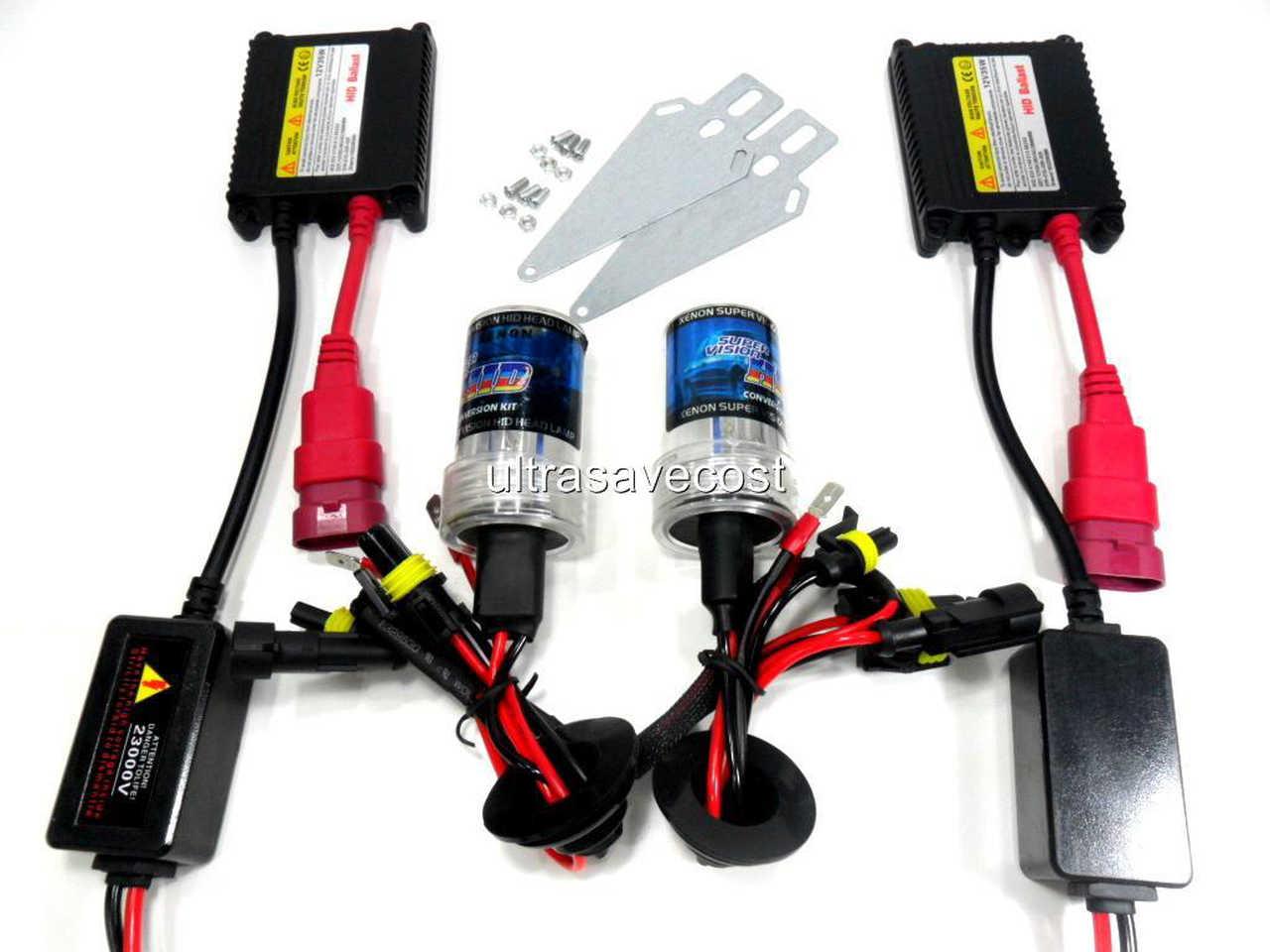 hight resolution of 35w h4 h4 2 xenon hid conversion kit slim ballast bulbs 6000k