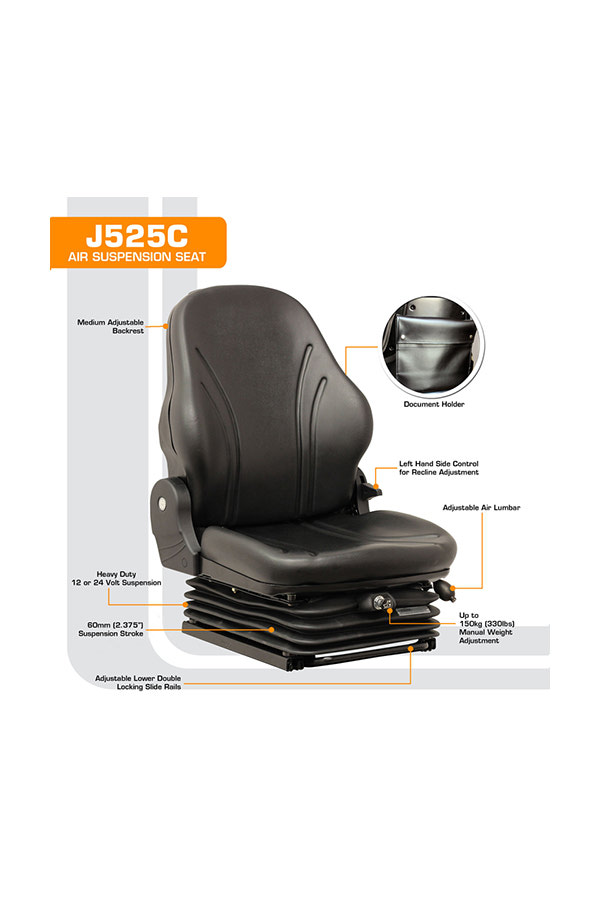 J525C Low Profile Air Suspension Seat