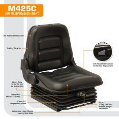 Office Chair Seat Covers Black Samsonite Leg Caps M425c Low Profile Air Suspension