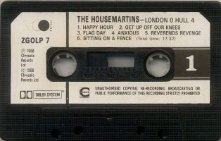 THE HOUSEMARTINS - London 0 Hull 4 (casete A)