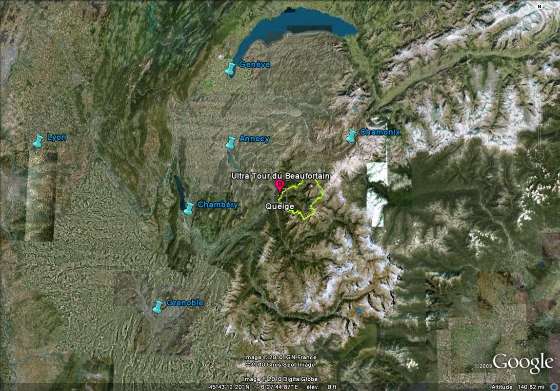 UT Beaufortain. Localisation