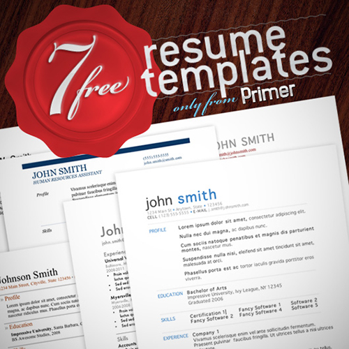 7 Free Creative Resumes Templates