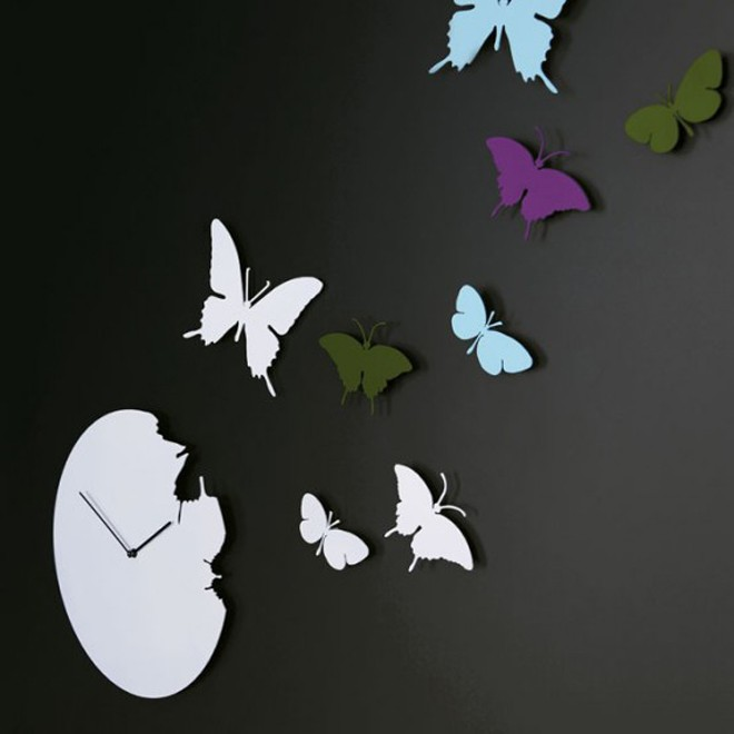 Butterfly-Round-Clock