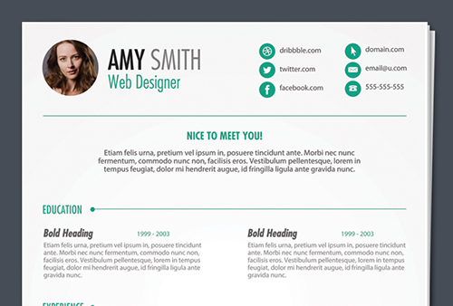 FREE PSD PRINT READY RESUME TEMPLATE