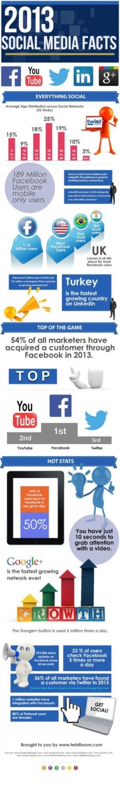 Social Media Facts 2013 - Infographic