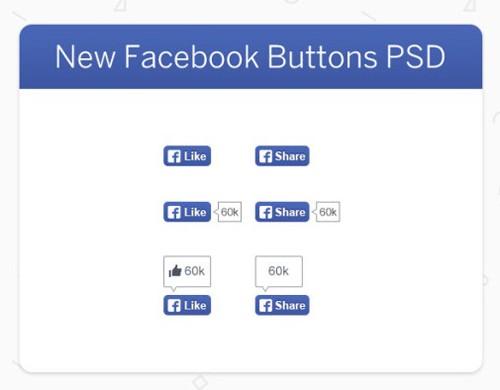 Facebook Button psd