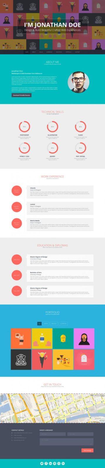 Flato – Responsive Online Flat CV & Resume Templates