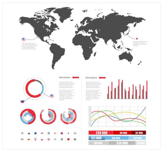 World Chart Style Infographics