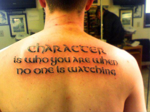 tattoo-quotes-character-is-who-you-are-when-no-one-is-watching
