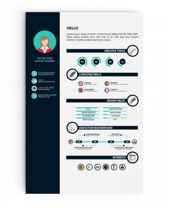 infographic resume vol.1 free download