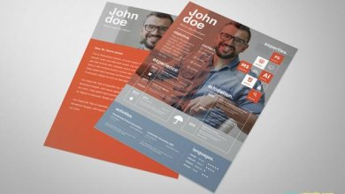 Photo of Free Graphic Design Resume Template – By ZippyPixels