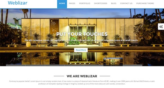 weblizar free wordpres themes
