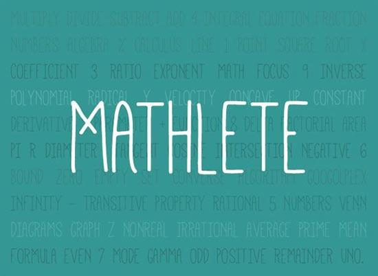 Mathlete12-free-handwritten-fonts