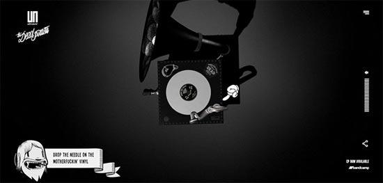 black and white website