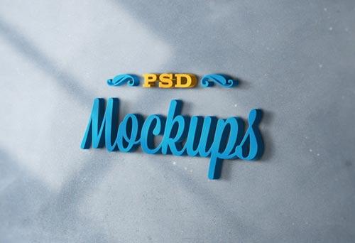 3D Logo Mock-ups