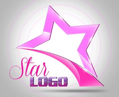 3D Star Logo Free PSD Template