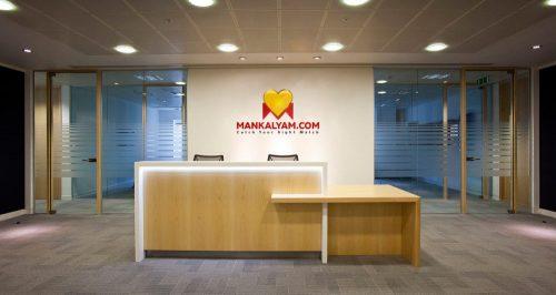 office wall logo mockup