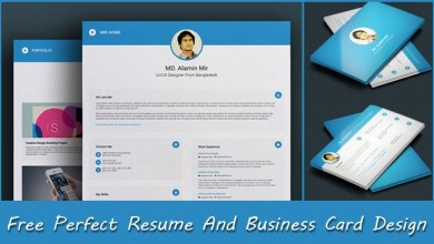 Photo of Free Perfect Resume And Business Card Design