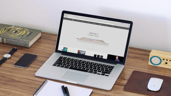 Free Apple Macbook PSD Template Mockup