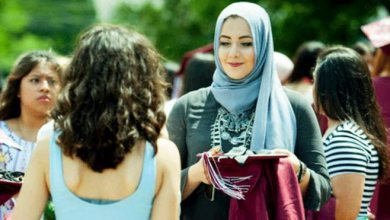 Photo of Hijabi Muslimah Student voted and Named as Best-Dressed
