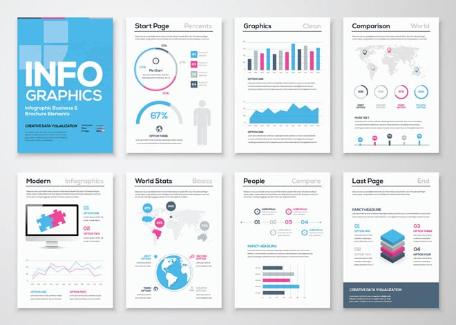 Free High Quality Infographic Brochure Template 1