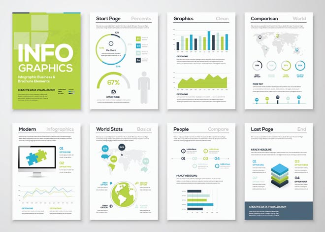 Free High Quality Infographic Brochure Template 2