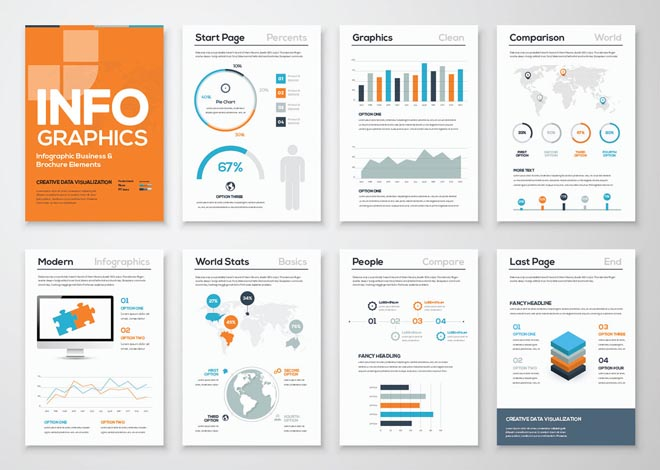 Free High Quality Infographic Brochure Template 3