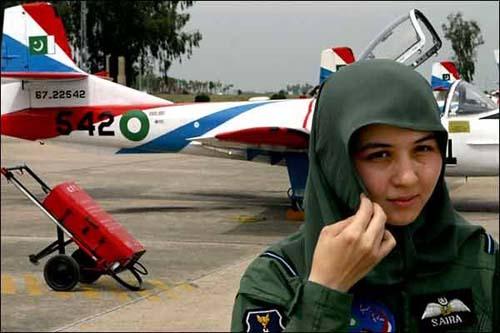Saira Batool, first female Pilot for Pakistan AirForce